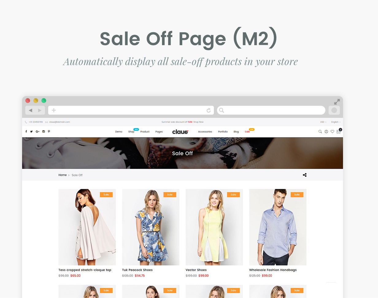 05 Sale off page - Claue - Clean, Minimal Magento 2 and 1 Theme