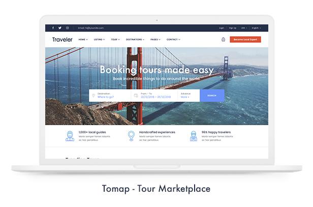 06 tomap - Travel Booking WordPress Theme