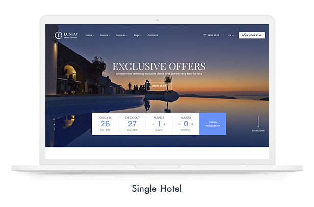 07 signle hotel - Travel Booking WordPress Theme