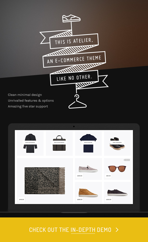 1 atelier hero - Atelier - Creative Multi-Purpose eCommerce Theme