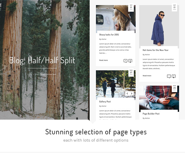 11 atelier page types - Atelier - Creative Multi-Purpose eCommerce Theme