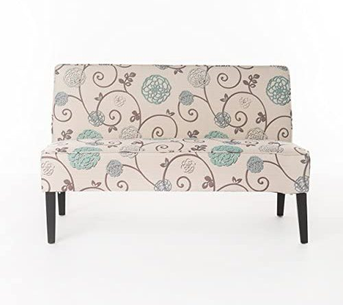 1599372314 41DnGy1UvCL. AC  500x445 - Christopher Knight Home Dejon Fabric Love Seat, White And Blue Floral