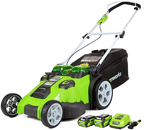 1599459166 51y4qnxMchL. AC  - Greenworks 40V 20-Inch Cordless Twin Force Lawn Mower, 4Ah & 2Ah Batteries with Charger Included