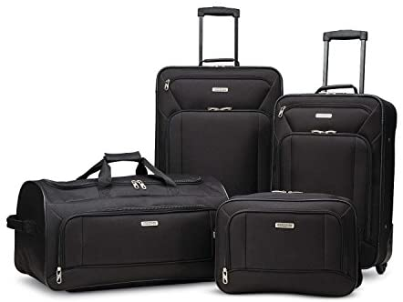 1600152454 41KRQGTh3RL. AC  - American Tourister Fieldbrook XLT Softside Upright Luggage, Black, 4-Piece Set (BB/DF/21/25)