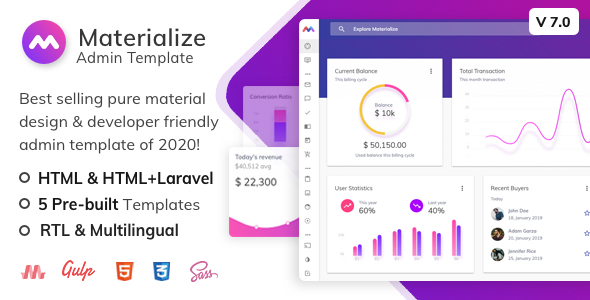 1600737006 479 01.  large preview - Materialize - HTML & Laravel Material Design Admin Template
