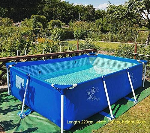 "1601062403 61bvRJiIUfL. AC  500x445 - Swimming Pool, 87""X59""X24"" Frame Above Ground Pool Full-Sized Lounge Pool for Kiddie, Kids, Adults, Easy Set for Backyard, Summer Water Party, Outdoor"