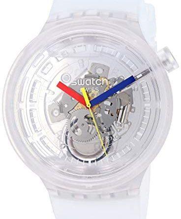 1601105640 415srR7Vg1L. AC  368x445 - Swatch Swiss Quartz Silicone Strap, Transparent