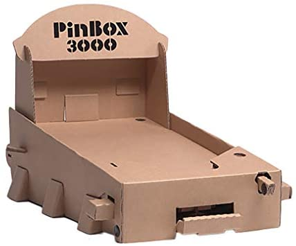 1601365633 41VFQDxorFL. AC  - Cardboard Teck Instantute PinBox 3000 DIY Customizable Cardboard Make Your Own Pinball Machine Kit with No Tool Assembly