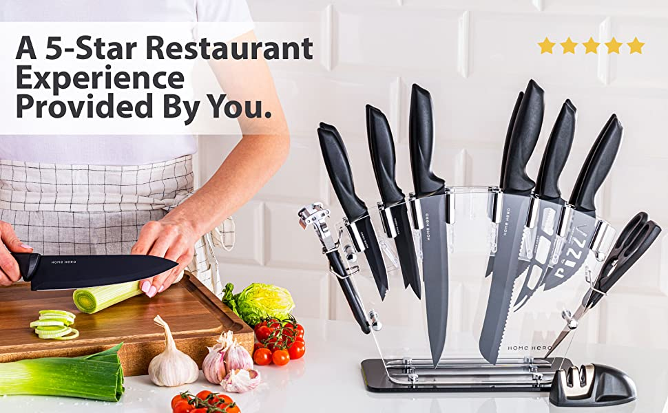 1c711606 16a9 45f6 af8b 96836044979c.  CR0,1,3000,1856 PT0 SX970 V1    - Stainless Steel Knife Set with Block 17 Piece Set Kitchen Knives Set Chef Knife Set with Knife Sharpener, 6 Steak Knives with Bonus Peeler Scissors Cheese Pizza Knife and Acrylic Stand by Home Hero