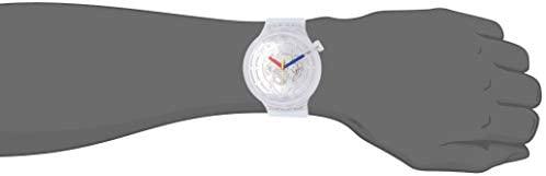 21UGF8CwMVL. AC  - Swatch Swiss Quartz Silicone Strap, Transparent