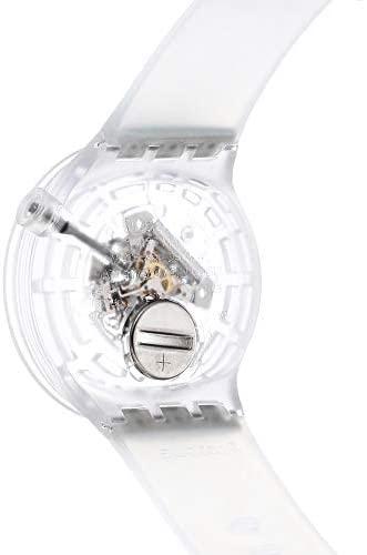 31AsD0uUq1L. AC  - Swatch Swiss Quartz Silicone Strap, Transparent
