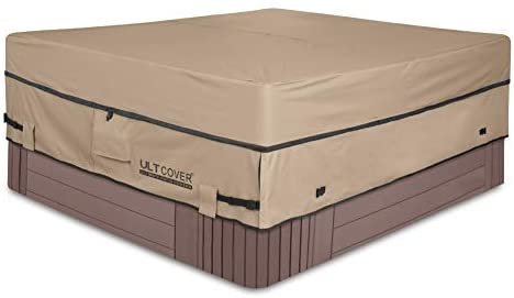 31Ig80xX14L. AC  - ULTCOVER Waterproof 600D Polyester Square Hot Tub Cover Outdoor SPA Covers 95 x 95 inch