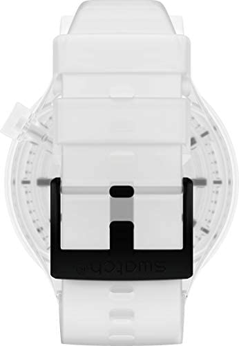 31lw3W8B5oL. AC  - Swatch Swiss Quartz Silicone Strap, Transparent
