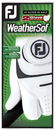 413ym3DPcRL. AC  - FootJoy Men's WeatherSof Golf Gloves, Pack of 2 (White)