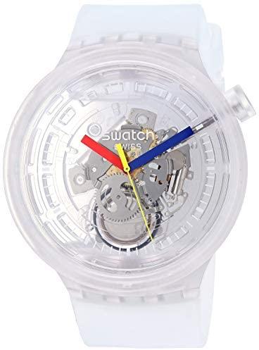 415srR7Vg1L. AC  - Swatch Swiss Quartz Silicone Strap, Transparent