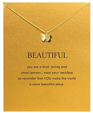 41A8p5SYJ1L. AC  - Hundred River Friendship Anchor Compass Necklace Good Luck Elephant Pendant Chain Necklace with Message Card