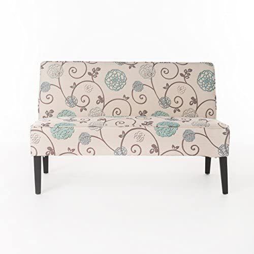 41DnGy1UvCL. AC  - Christopher Knight Home Dejon Fabric Love Seat, White And Blue Floral