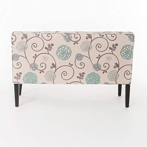 41IP0nWZX7L. AC  - Christopher Knight Home Dejon Fabric Love Seat, White And Blue Floral