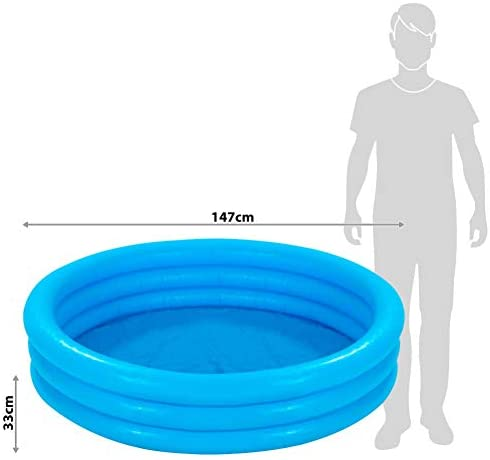 "41Lu pdmL7L. AC  - INTEX Crystal Blue Kids Outdoor Inflatable 58"" Swimming Pool 
