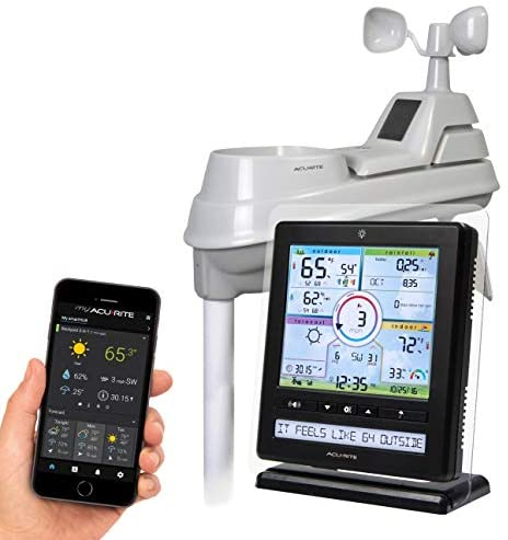 41Ovi+adOAL. AC  - AcuRite Wireless Home Station (01536) with 5-1 Sensor and Android iPhone Weather Monitoring