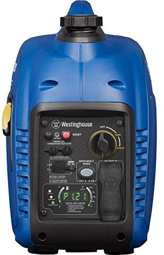 41UvAsz89EL. AC  - Westinghouse iGen2500 Super Quiet Portable Inverter Generator 2200 Rated & 2500 Peak Watts, Gas Powered, 19.70 x 11.22 x 17.91 inches, CARB Compliant