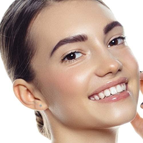 41aUixcytqL. AC  - 5 Pairs Stud Earrings Set, Hypoallergenic Cubic Zirconia 316L Earrings Stainless Steel CZ Earrings 3-8mm, Rose Gold …