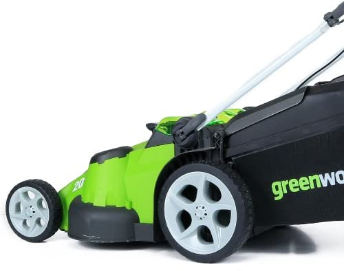 41i64ezbm1L. AC  - Greenworks 40V 20-Inch Cordless Twin Force Lawn Mower, 4Ah & 2Ah Batteries with Charger Included
