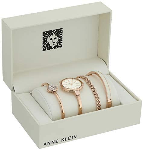41nPYhKh6qL. AC  - Anne Klein Women's Bangle Watch and Swarovski Crystal Bracelet Set, AK/1470