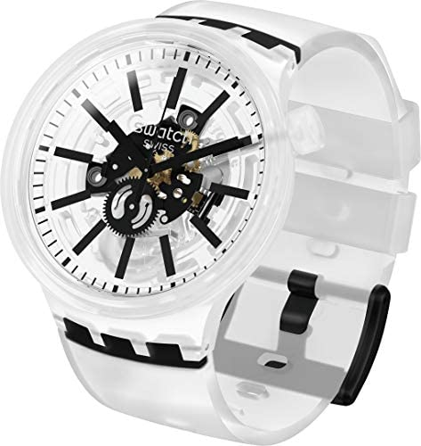 41pfnoVCpCL. AC  - Swatch Swiss Quartz Silicone Strap, Transparent