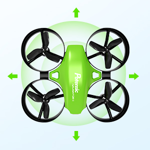 44865bfd a0aa 4100 bafe ff97c9f236be.  CR0,0,300,300 PT0 SX300 V1    - Potensic Upgraded A20 Mini Drone Easy to Fly Drone for Kids and Beginners, RC Helicopter Quadcopter with Auto Hovering, Headless Mode, Remote Control and Extra Batteries - Green