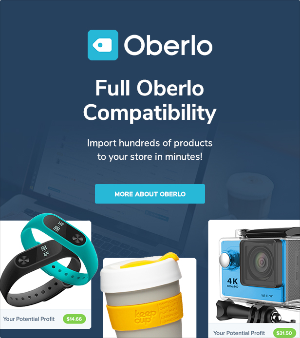 4 0 oberlo - Fastor - Multipurpose Shopify Sections Theme