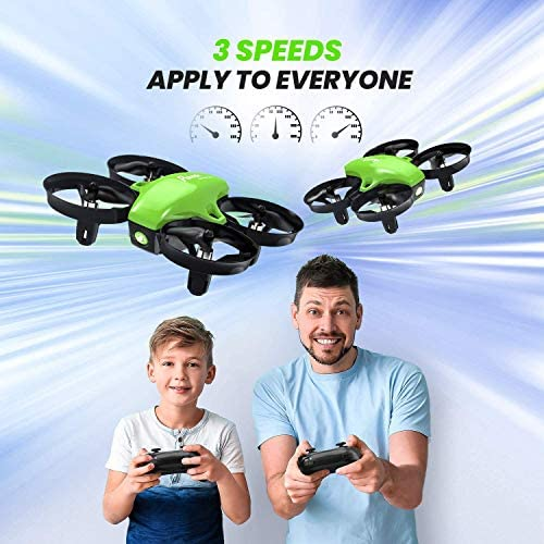 51 J58bTTfL. AC  - Potensic Upgraded A20 Mini Drone Easy to Fly Drone for Kids and Beginners, RC Helicopter Quadcopter with Auto Hovering, Headless Mode, Remote Control and Extra Batteries - Green