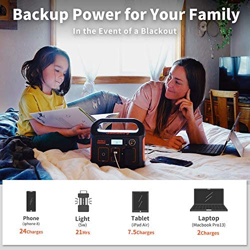 511O5K7nOgL. AC  - Jackery Portable Power Station Explorer 240, 240Wh Backup Lithium Battery, 110V/200W Pure Sine Wave AC Outlet, Solar Generator (Solar Panel Not Included) for Outdoors Camping Travel Hunting Emergency