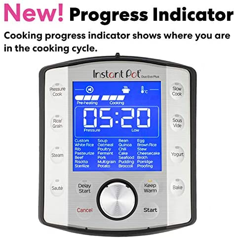 512CG6LnzfL. AC  - Instant Pot Duo Evo Plus Pressure Cooker 9 in 1, 6 Qt, 48 One Touch Programs