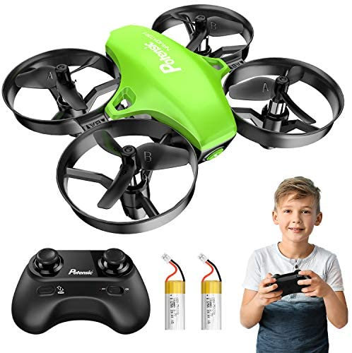 5148Fbobm7L. AC  - Potensic Upgraded A20 Mini Drone Easy to Fly Drone for Kids and Beginners, RC Helicopter Quadcopter with Auto Hovering, Headless Mode, Remote Control and Extra Batteries - Green
