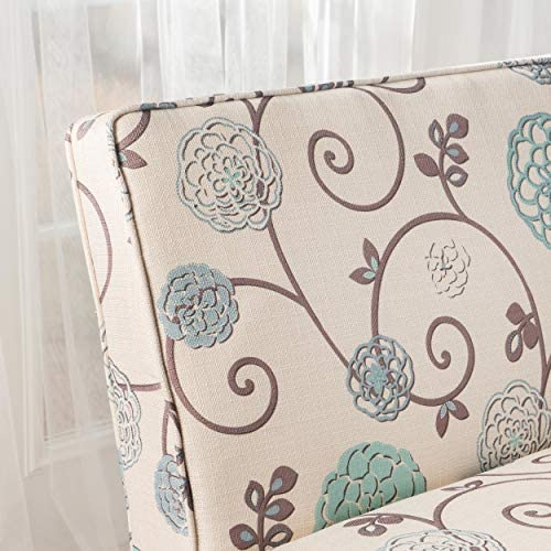 514Vx+DivyL. AC  - Christopher Knight Home Dejon Fabric Love Seat, White And Blue Floral