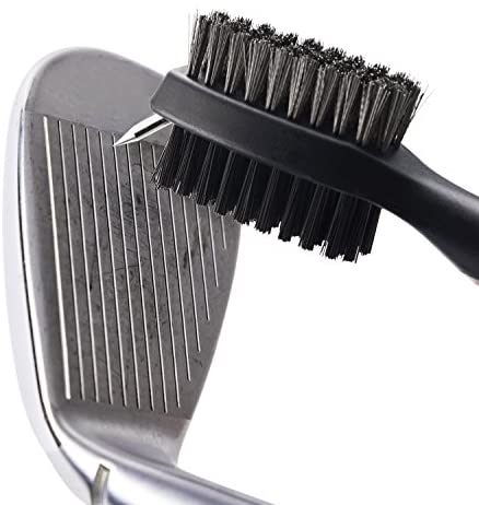 517qsPO36yL. AC  - Xintan Tiger Pack of 2 Golf Club Brush Groove Cleaner with Retractable Zip-line and Aluminum Carabiner Cleaning Tools