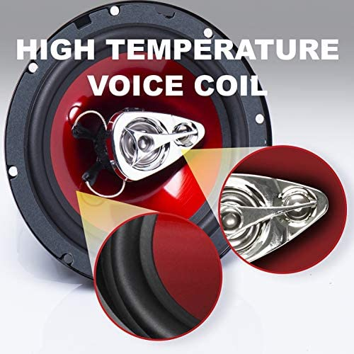 5180gt8+dvL. AC  - BOSS Audio Systems CH6530 Car Speakers - 300 Watts of Power Per Pair and 150 Watts Each, 6.5 Inch, Full Range, 3 Way, Sold in Pairs