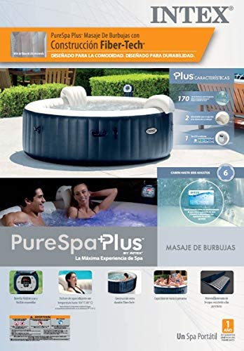 51AqcrGo+iL. AC  - Intex Pure Spa Inflatable 6 Person Outdoor Bubble Hot Tub and 2 Seat Inserts