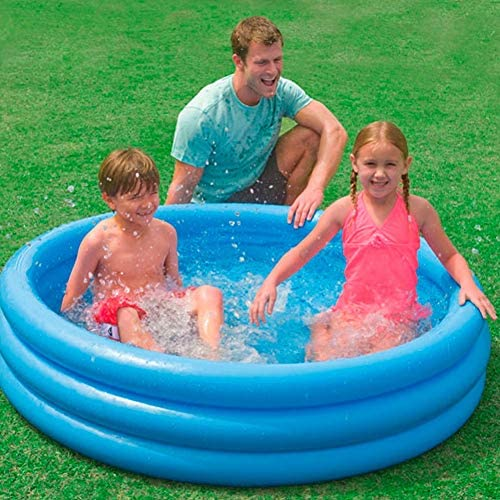 "51AtRmmZd4L. AC  - INTEX Crystal Blue Kids Outdoor Inflatable 58"" Swimming Pool 