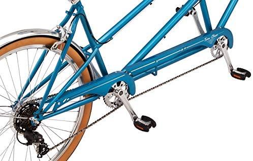 51DYsBbeTCL. AC  - Schwinn Twinn Classic Tandem Adult Beach Cruiser Bike, Double Seater, Steel Low Step Frame, 7-Speed, Medium or Large Frame Options