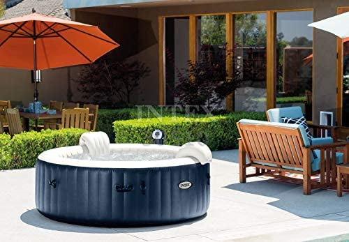 51ETiQHHcAL. AC  - Intex Pure Spa Inflatable 6 Person Outdoor Bubble Hot Tub and 2 Seat Inserts