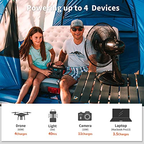 51TgIq6zCWL. AC  - Jackery Portable Power Station Explorer 240, 240Wh Backup Lithium Battery, 110V/200W Pure Sine Wave AC Outlet, Solar Generator (Solar Panel Not Included) for Outdoors Camping Travel Hunting Emergency