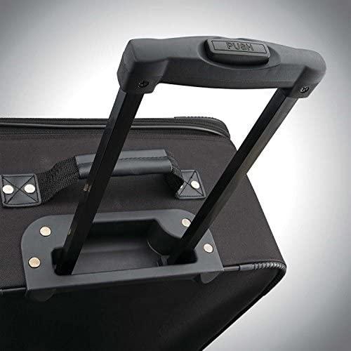 51TkswICioL. AC  - American Tourister Fieldbrook XLT Softside Upright Luggage, Black, 4-Piece Set (BB/DF/21/25)