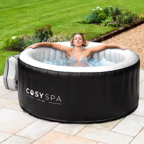 51UgowB3 EL. AC  - COSYSPA Inflatable Hot Tub – Luxury Outdoor Bubble Spa | 2-6 Person Capacity – Quick Heating (Hot Tub Only - 4 Person)