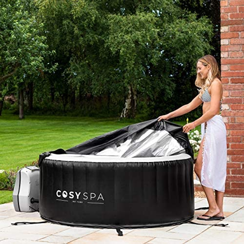 51V0ee88pLL. AC  - COSYSPA Inflatable Hot Tub – Luxury Outdoor Bubble Spa | 2-6 Person Capacity – Quick Heating (Hot Tub Only - 4 Person)