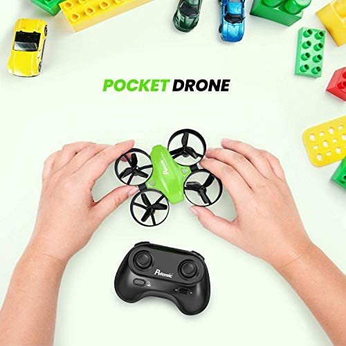 51aJ+Yrk6ZL. AC  - Potensic Upgraded A20 Mini Drone Easy to Fly Drone for Kids and Beginners, RC Helicopter Quadcopter with Auto Hovering, Headless Mode, Remote Control and Extra Batteries - Green