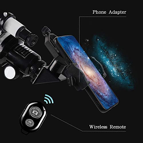 51bqDxL LOL. AC  - ToyerBee Telescope for Kids &Adults &Beginners,70mm Aperture 300mm Astronomical Refractor Telescope(15X-150X),Portable Travel Telescope with an Adjustable Tripod,A Phone Adapter&A Wireless Remote