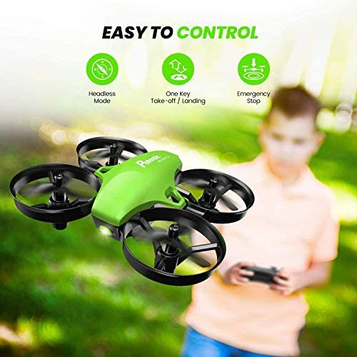 51dW2RSBByL. AC  - Potensic Upgraded A20 Mini Drone Easy to Fly Drone for Kids and Beginners, RC Helicopter Quadcopter with Auto Hovering, Headless Mode, Remote Control and Extra Batteries - Green