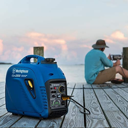 51gMUKNojAL. AC  - Westinghouse iGen2500 Super Quiet Portable Inverter Generator 2200 Rated & 2500 Peak Watts, Gas Powered, 19.70 x 11.22 x 17.91 inches, CARB Compliant